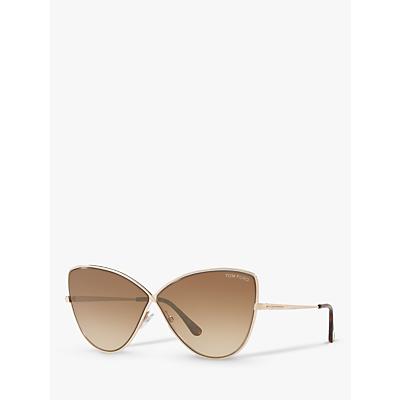 TOM FORD FT0569 Elise-02 Cat's Eye Sunglasses, Gold/Brown Gradient