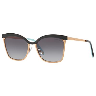 Tiffany & Co TF3060 Women's Square Sunglasses, Gold/Grey Gradient