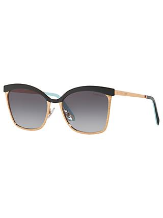 Tiffany & Co TF3060 Women's Square Sunglasses, Gold/Grey Gradient