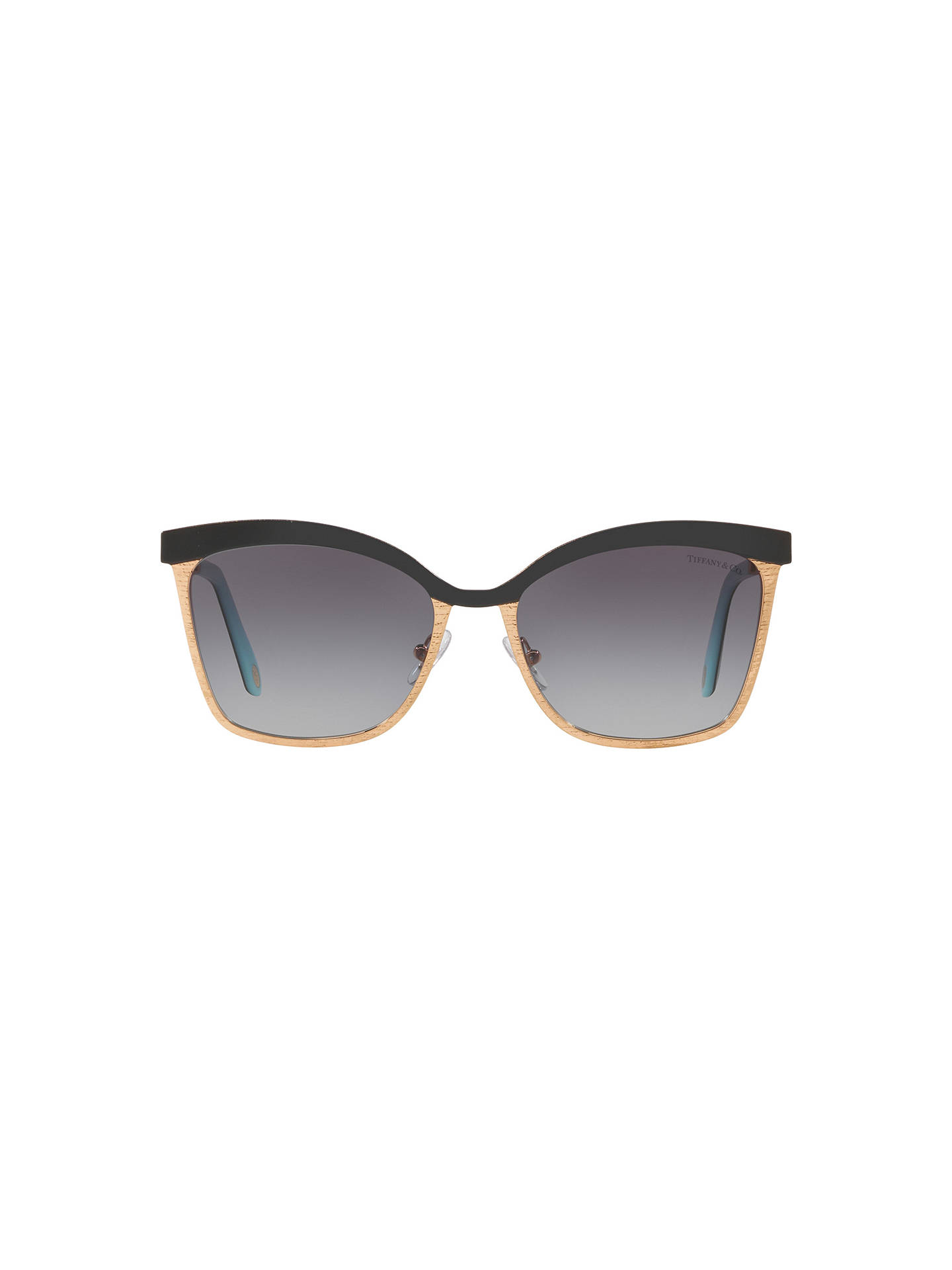 Buy Tiffany & Co TF3060 Women's Square Sunglasses, Gold/Grey Gradient Online at johnlewis.com