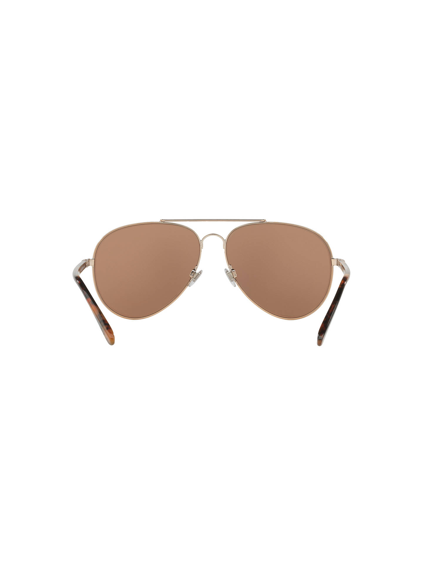 BuyPolo Ralph Lauren RL7058 Polarised Aviator Sunglasses, Gold/Mirror Brown Online at johnlewis.com