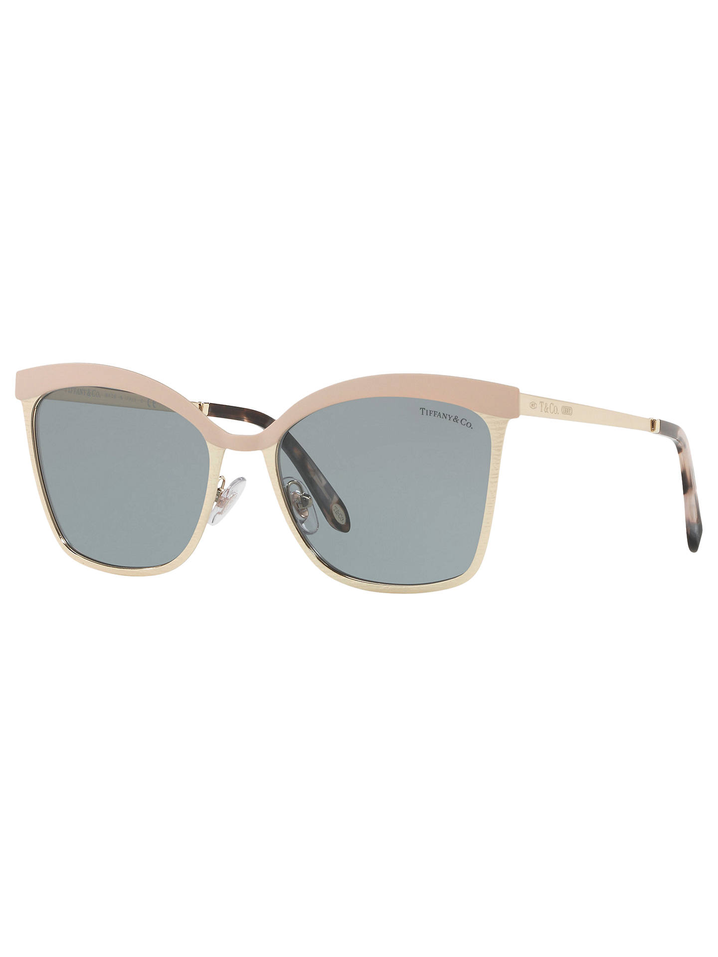 5d9452cb8f18 Buy Tiffany & Co TF3060 Square Sunglasses, Gold/Grey Online at johnlewis.  ...