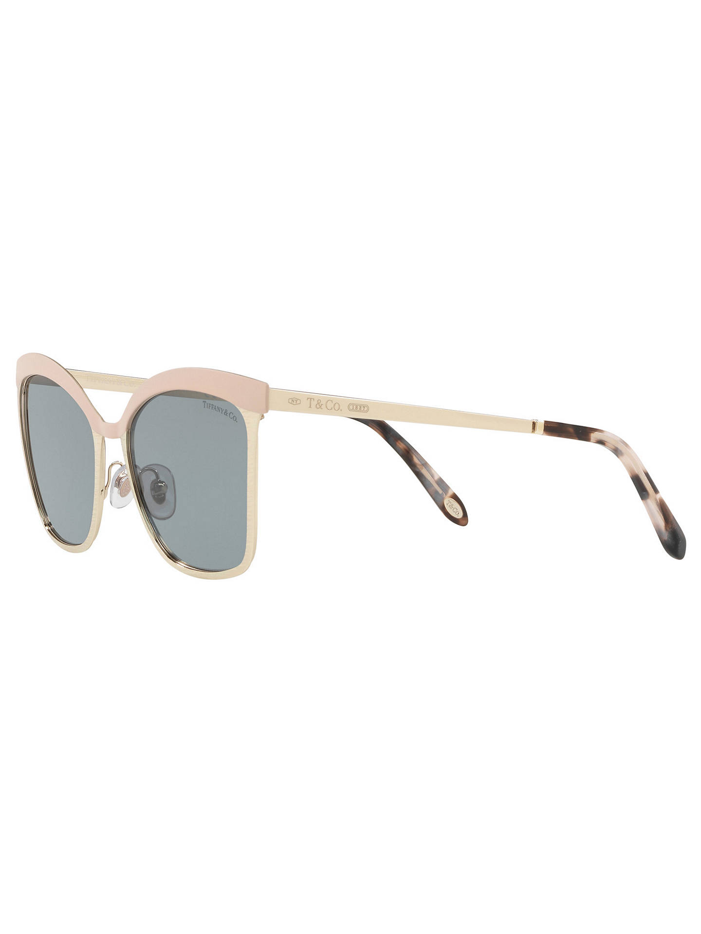 ff0549e042e6 ... Buy Tiffany & Co TF3060 Square Sunglasses, Gold/Grey Online at  johnlewis. ...