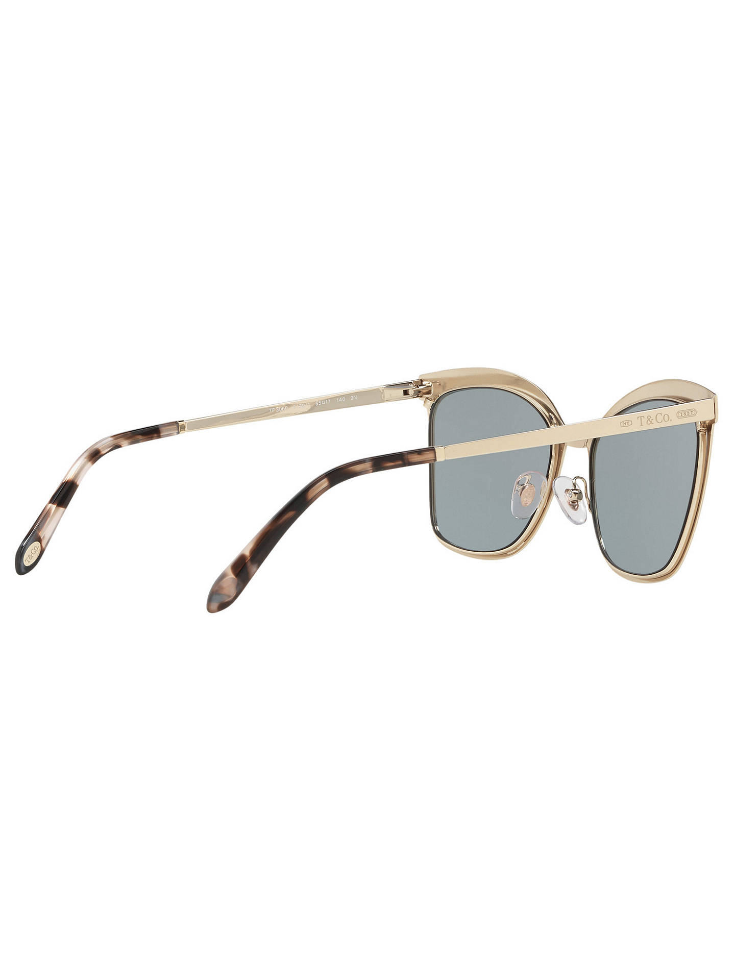 e400861b241d ... Buy Tiffany & Co TF3060 Square Sunglasses, Gold/Grey Online at  johnlewis.com