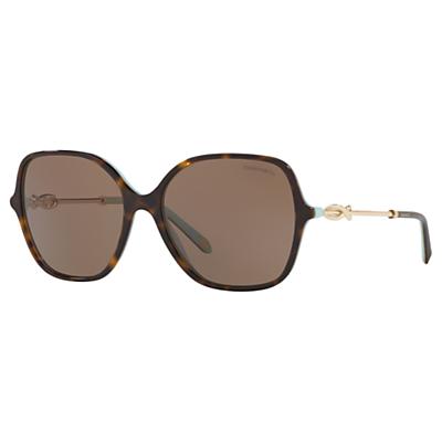 Tiffany & Co TF4145B Square Sunglasses, Tortoise/Brown