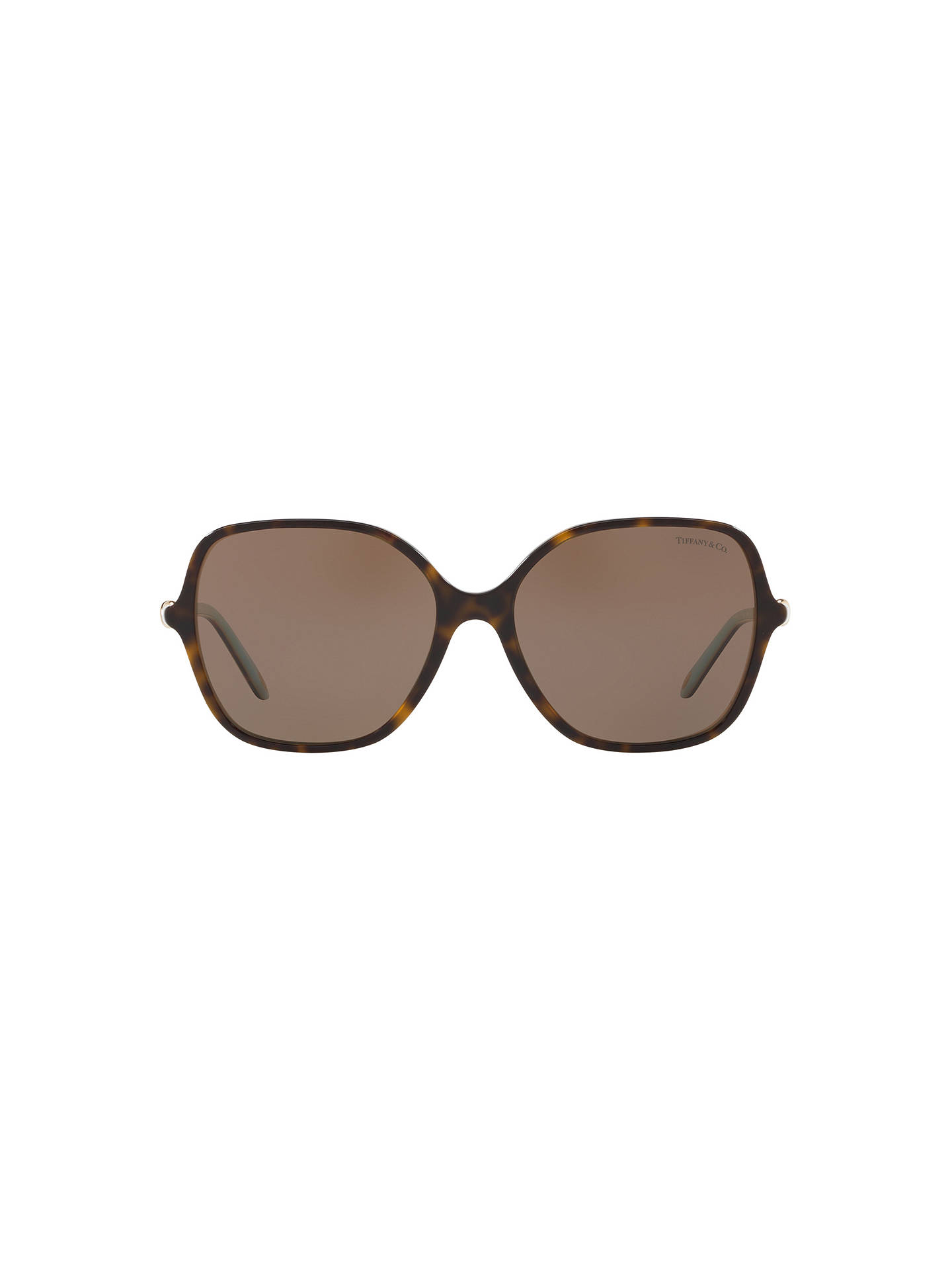 BuyTiffany & Co TF4145B Square Sunglasses, Tortoise/Brown Online at johnlewis.com