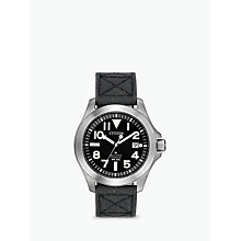 Buy Citizen BN0118-04E Men's Eco-Drive Titanium Date Fabric Strap Watch, Grey/Black Online at johnlewis.com