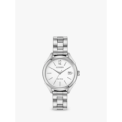Citizen FE6140-54A Women's Stainless Steel Round Watch, Silver