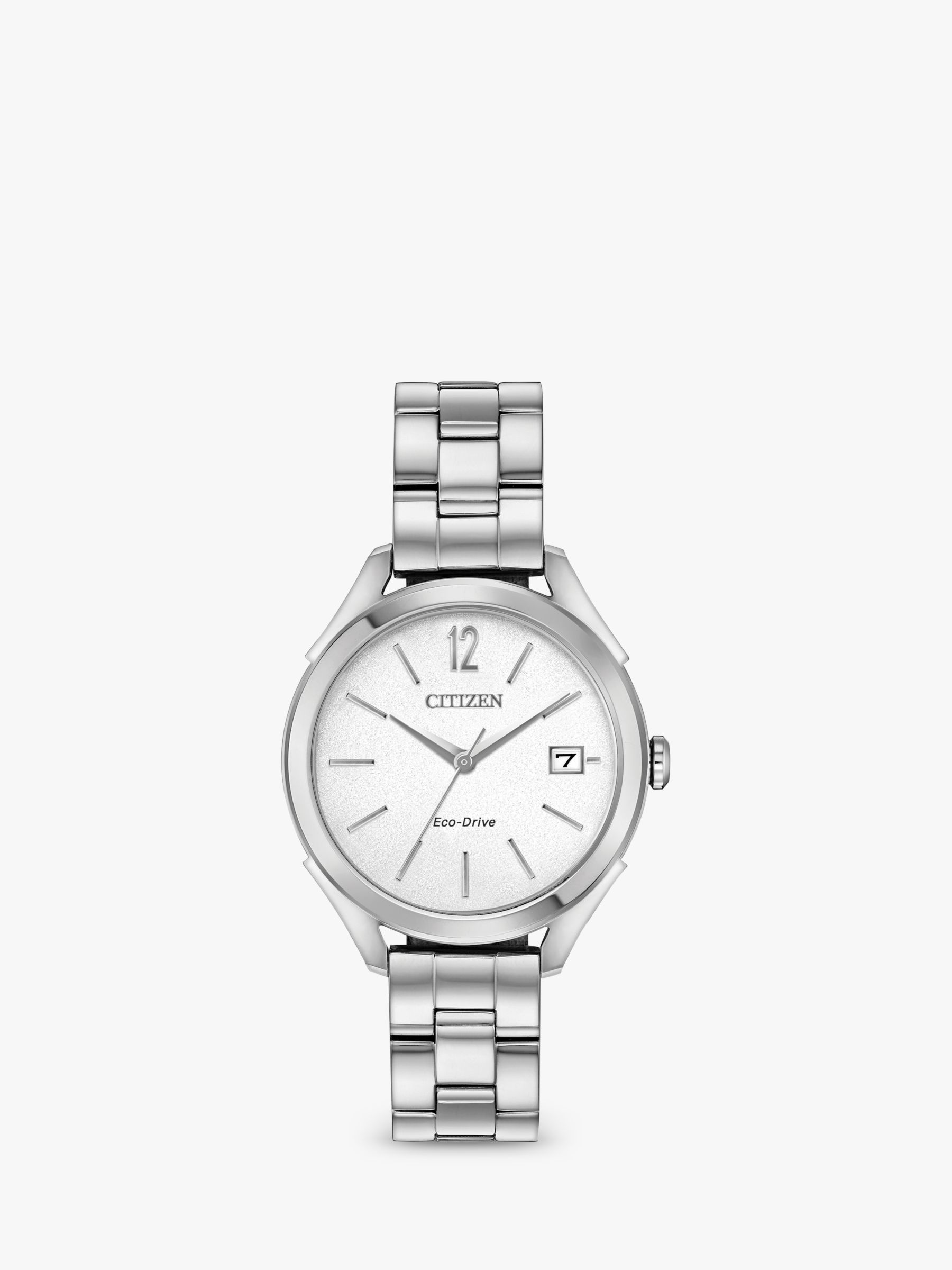 Citizen Citizen FE6140-54A Women's Date Bracelet Strap Watch, Silver