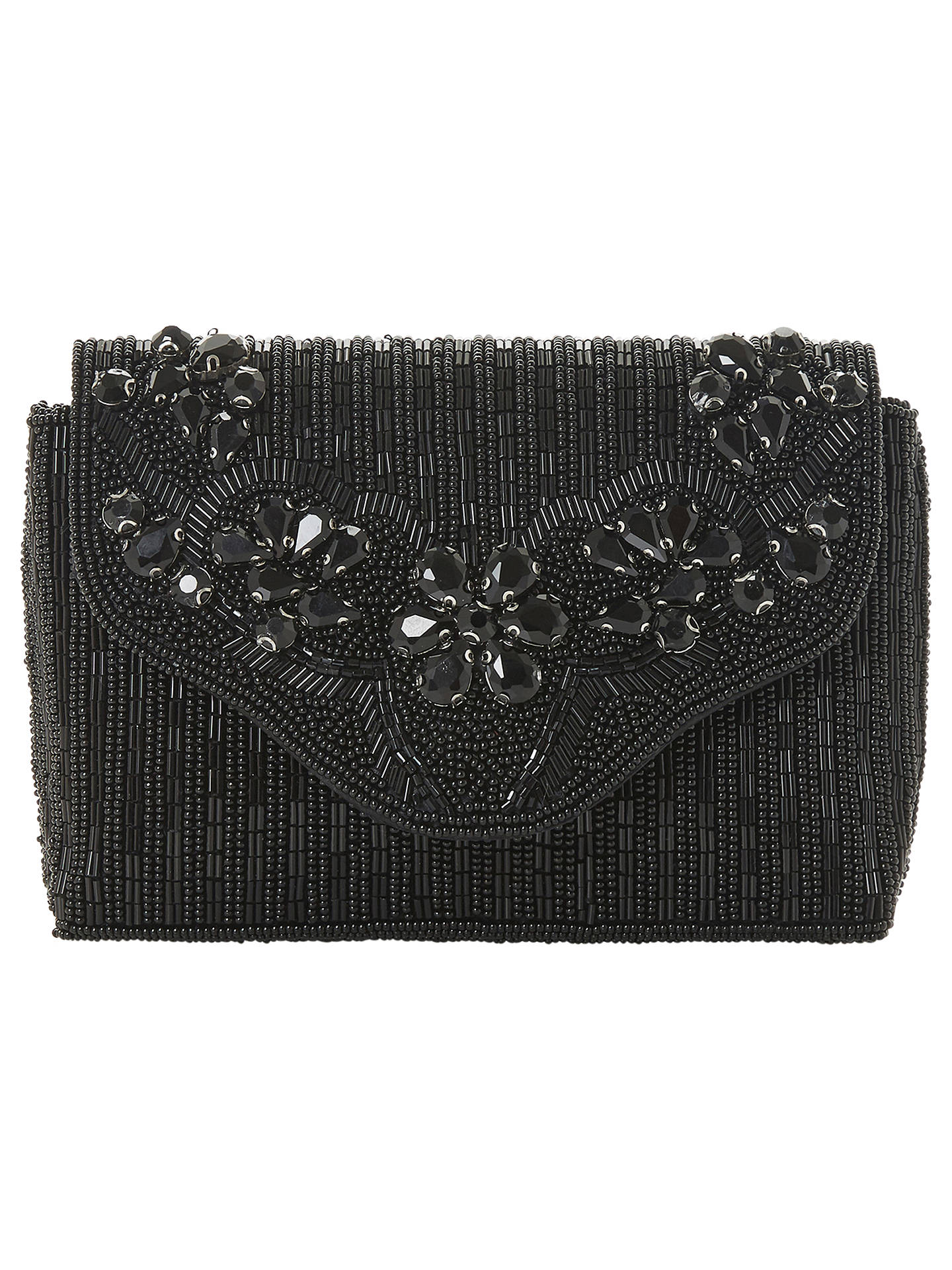 ae784ac3ceb Buy Dune Ekko Beaded Clutch Bag, Black Online at johnlewis.com ...