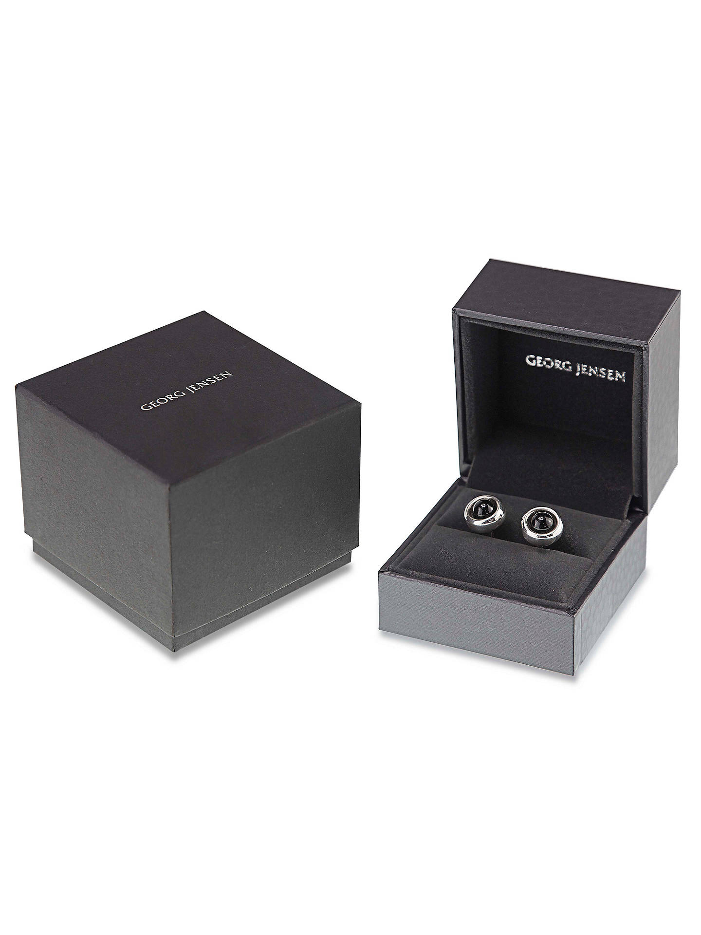 Buy Georg Jensen Sphere Onyx Cufflinks, Silver Online at johnlewis.com