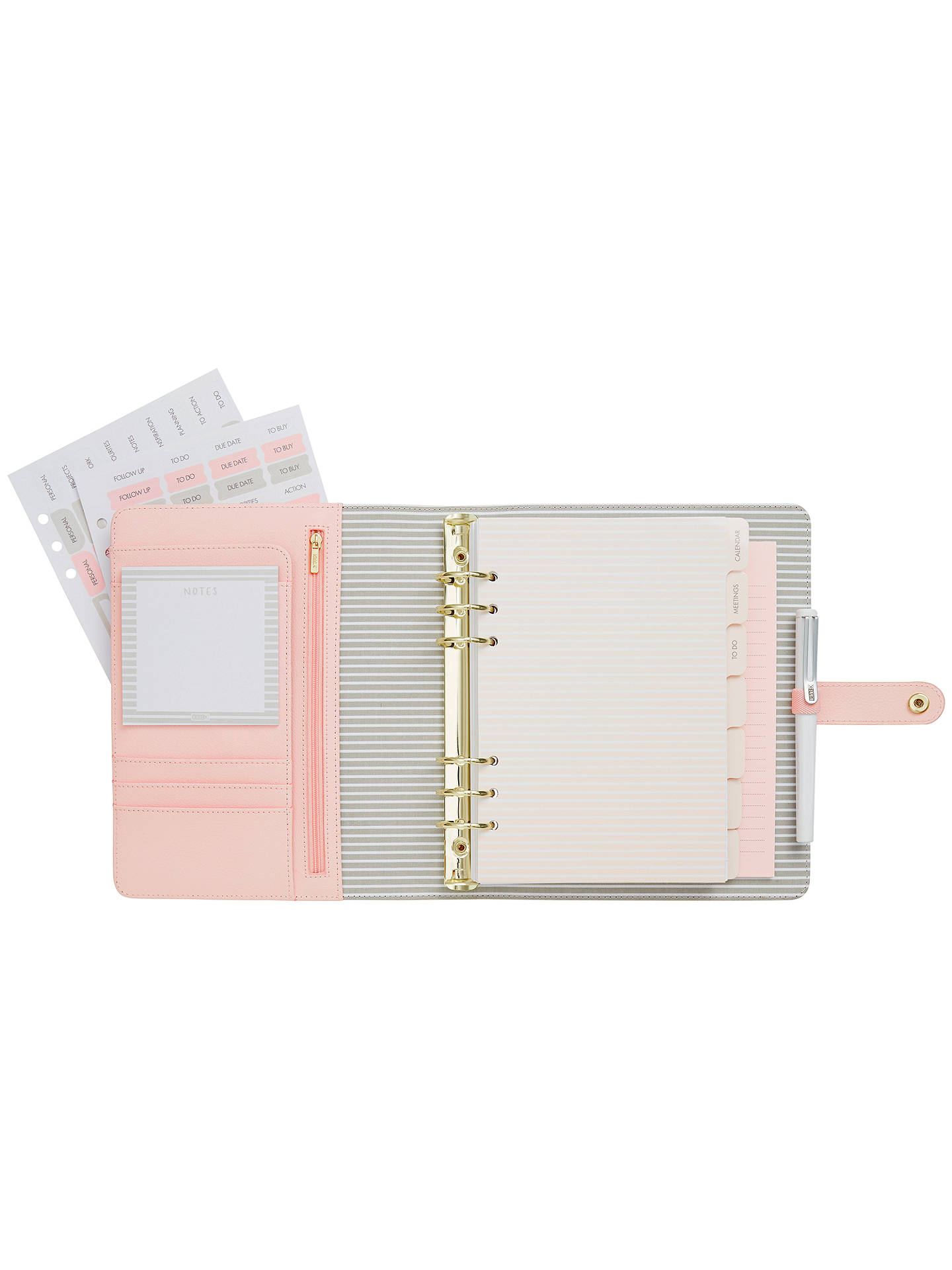 kikki k large leather personal planner at john lewis partners