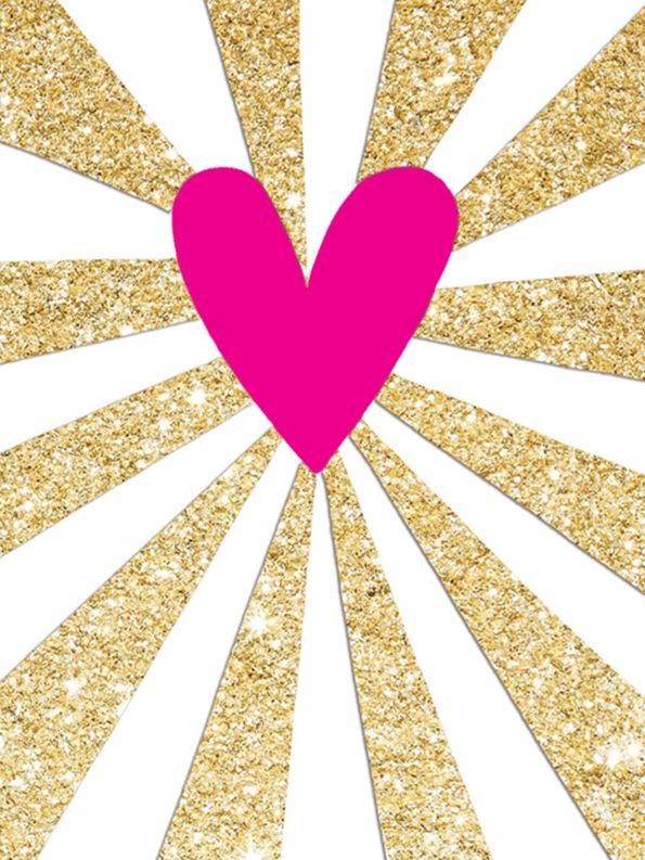 Rachel Ellen Rachel Ellen Neon Heart Notecards, Pack of 5