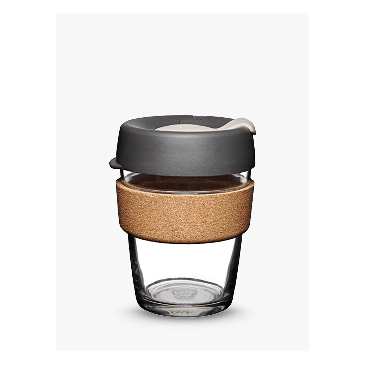 BuyKeepCup Cork Brew Reusable 12oz Glass Coffee Cup / Travel Mug, 340ml Online at johnlewis.com