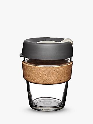 Keepcup Cork Brew Reusable 12oz Gl Coffee Cup Travel Mug 340ml