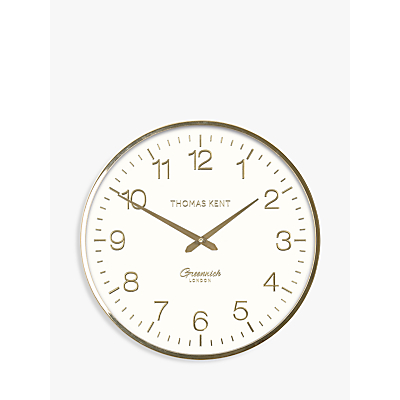 Thomas Kent Greenwich Wall Clock, 40cm, Champagne