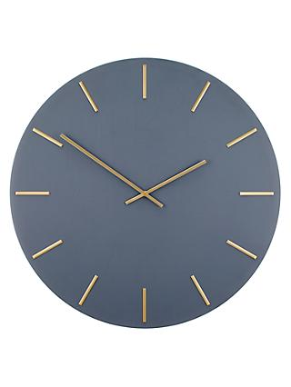 John Lewis Partners Arne Wall Clock 60cm Brass Grey