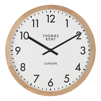 Thomas Kent Clifton Oak Edged Clock, Dia.46cm