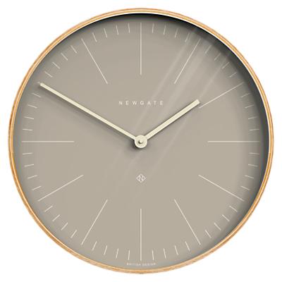Newgate Mr Clarke Wood Finish Wall Clock, 53cm, Grey/Natura