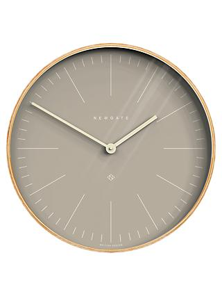 Newgate Mr Clarke Wood Finish Wall Clock, 53cm, Grey/Natural
