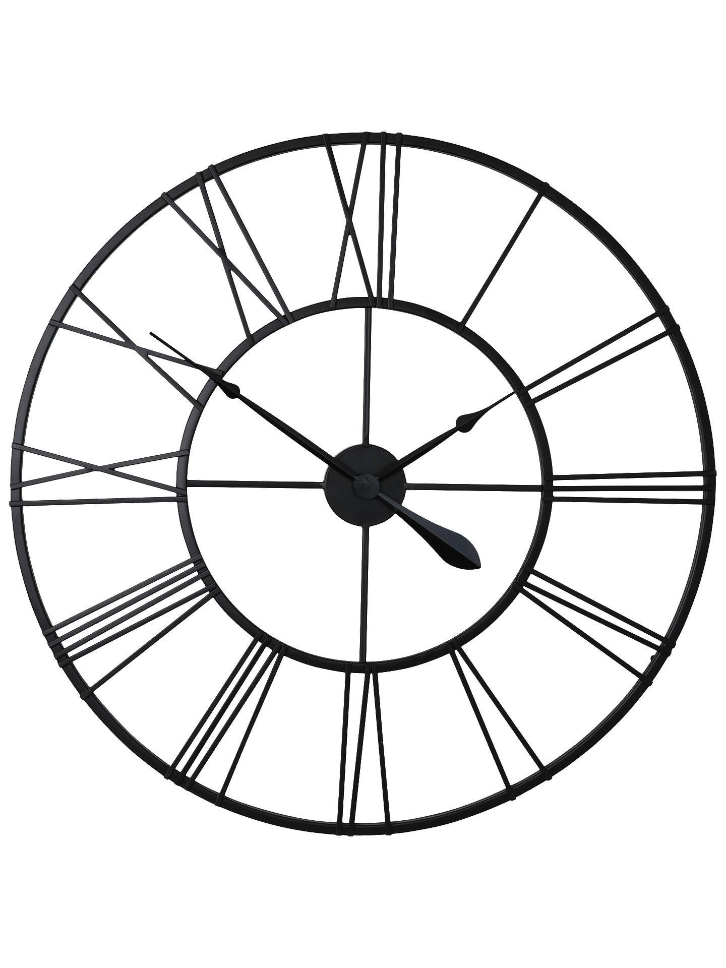 London Clock Company Skeleton Wire Wall Clock Dia 80cm