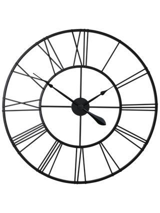 London Clock Company Skeleton Wire Wall Dia 80cm Black