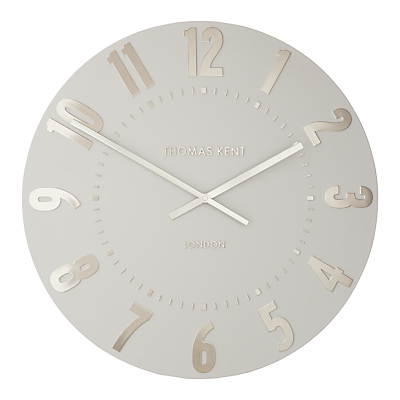 Thomas Kent Mulberry Wall Clock, Dia.50cm, Silver Cloud