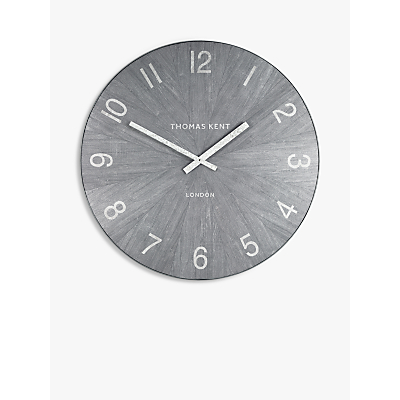 Thomas Kent Wharf Wall Clock, Grey, 76cm