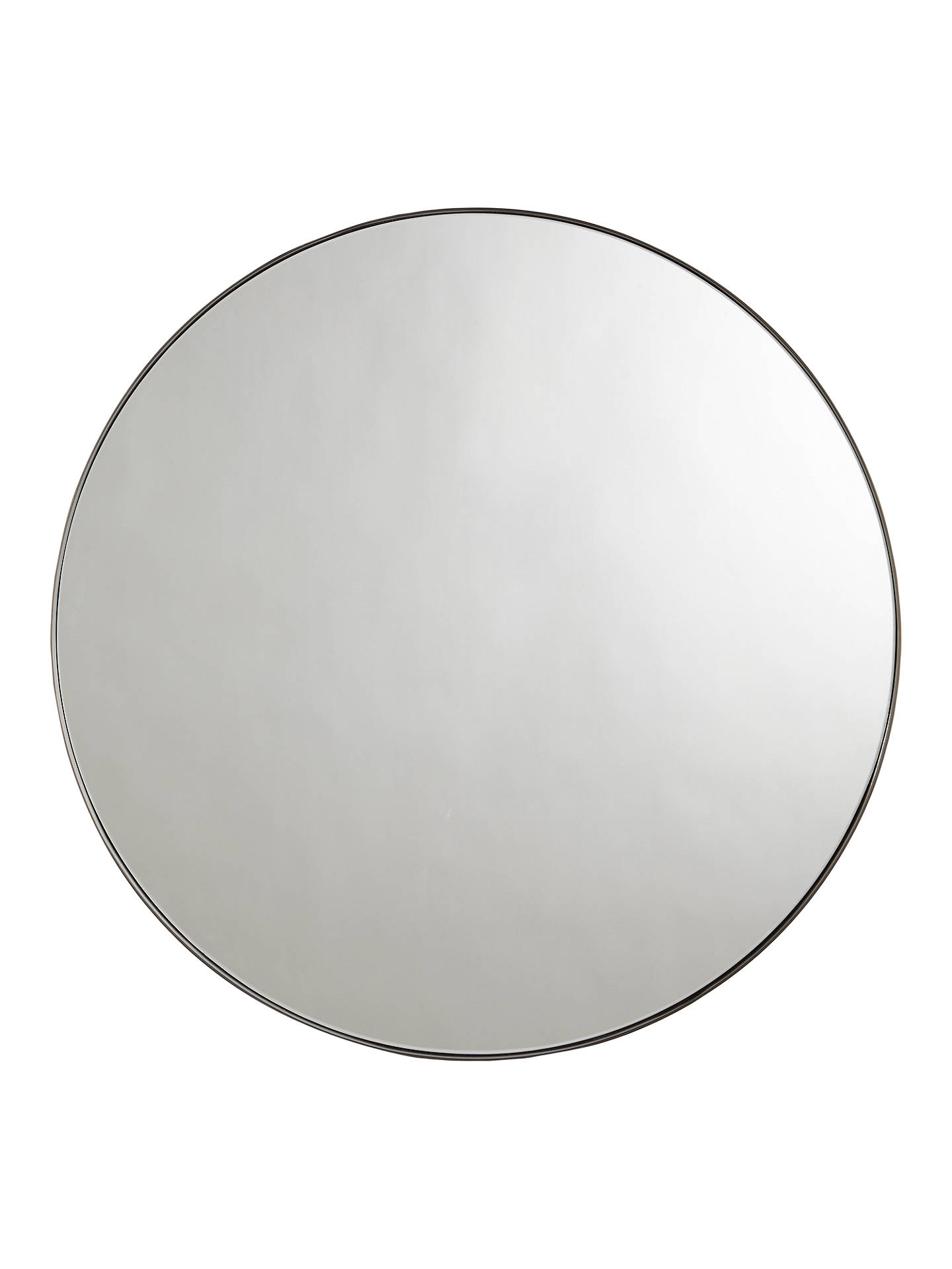 BuyJohn Lewis & Partners Cliffe Large Round Mirror, Dia.92cm, Black Online at johnlewis.com