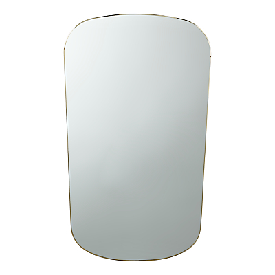 John Lewis Hays Tapered Oblong Mirror, 100 x 51cm, Gold
