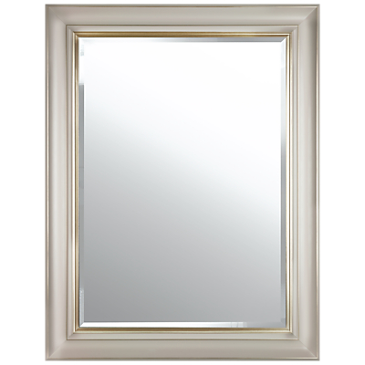 John Lewis Gold Line Bevelled Mirror, 105 x 75cm, Gold/Taupe