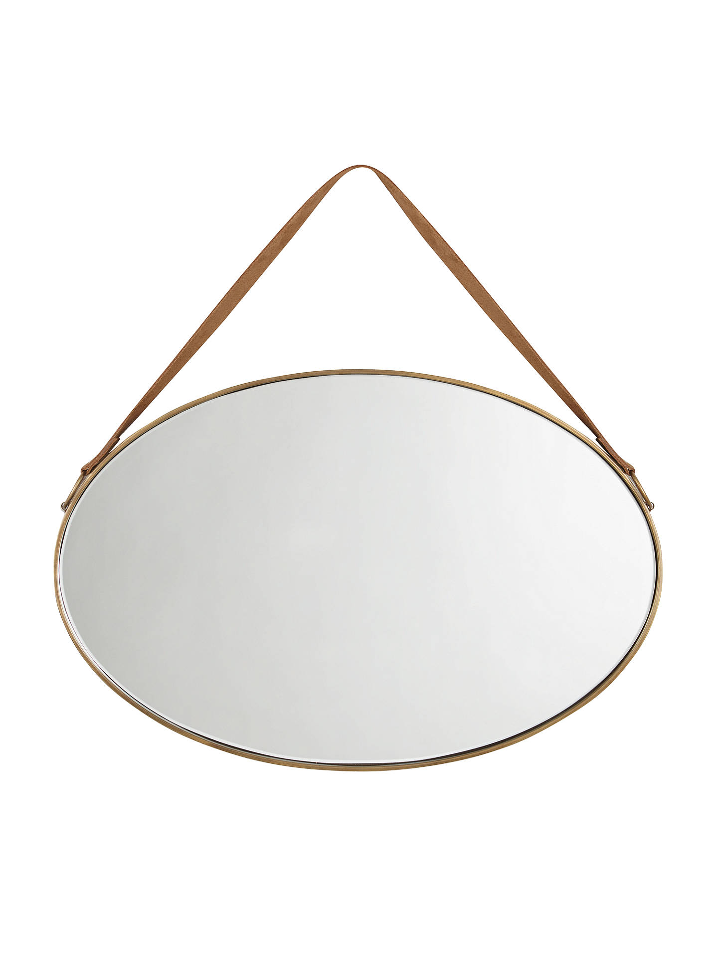 John Lewis Partners Ronda Oval Hanging Mirror With Strap 54 X