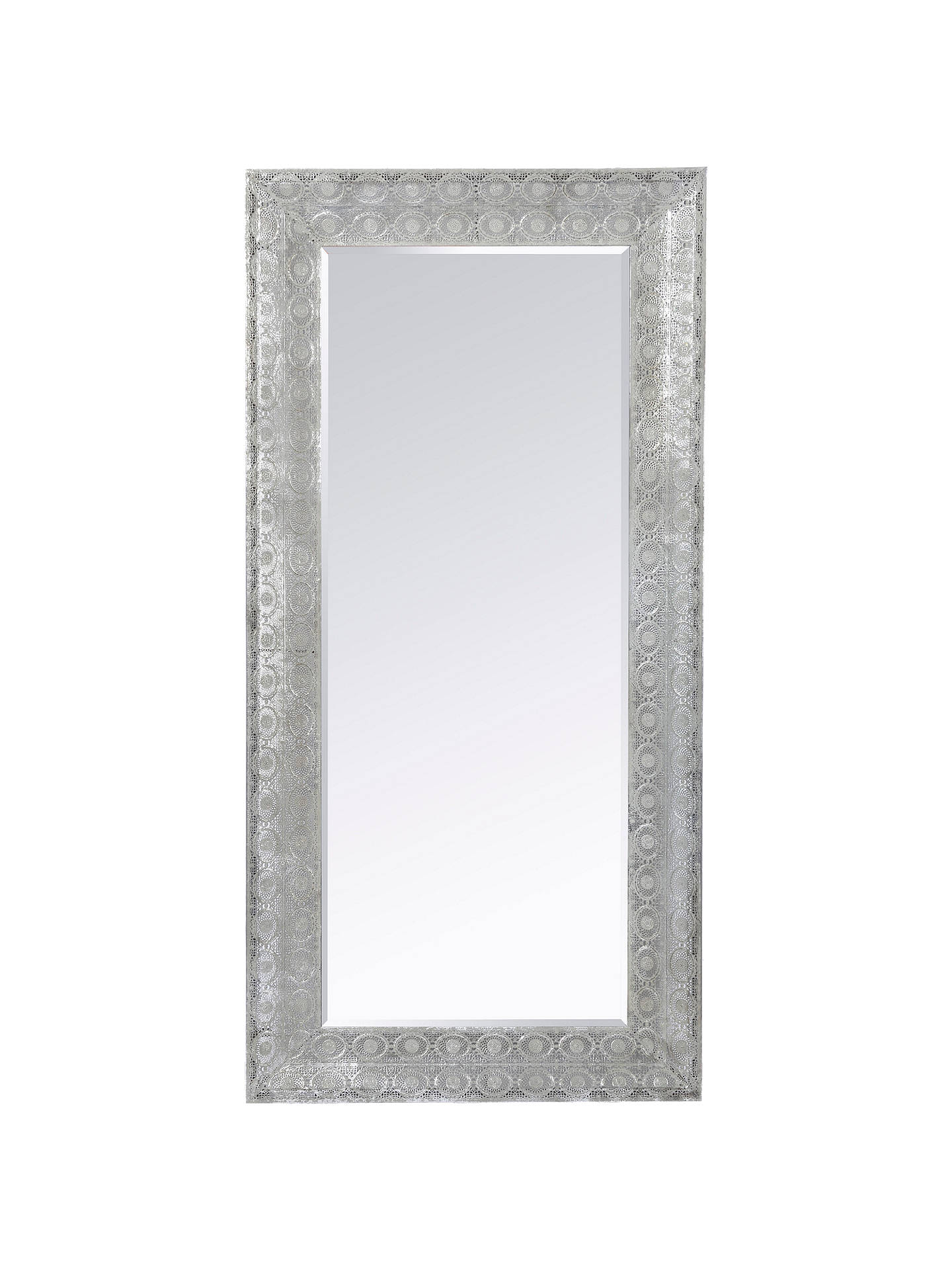 208db33a69b0 Buy Libra Filigree Large Leaner Mirror, Dark Grey, 165 x 80cm Online at  johnlewis ...