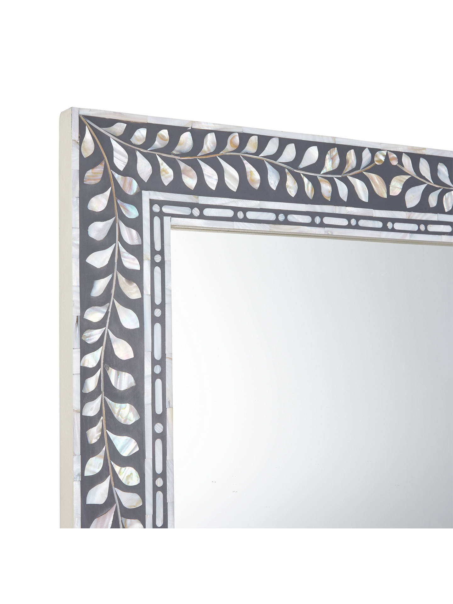 John Lewis Partners Mother Of Pearl Frame Mirror 180 X 65cm