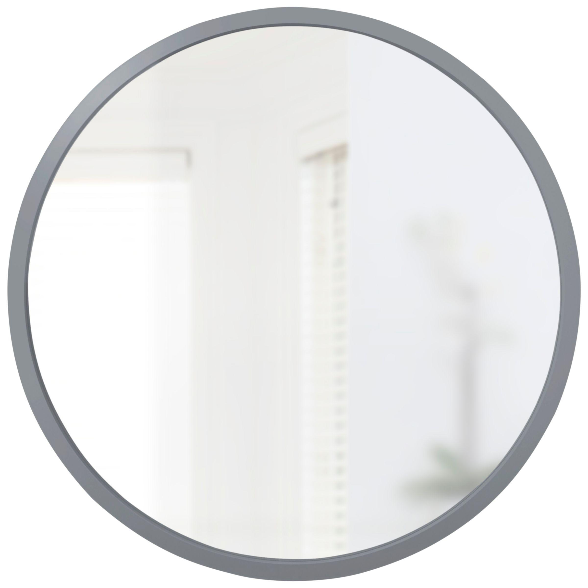 Umbra Umbra Hub Round Mirror, Dia.94cm, Grey