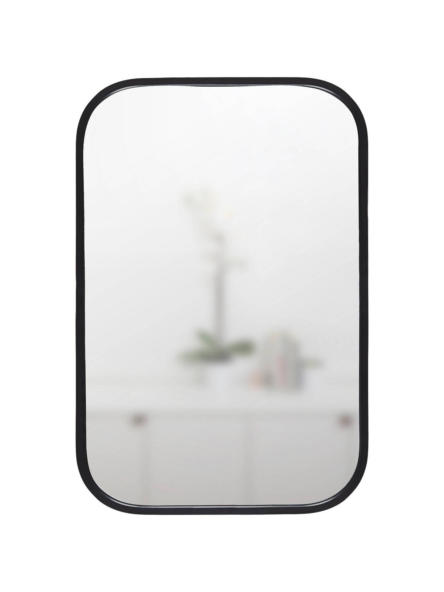 Umbra Rounded Corners Mirror H93cm Black At John Lewis