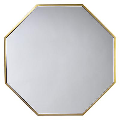 John Lewis Zelda Hexagonal Mirror, 80 x 80cm, Antique Brass