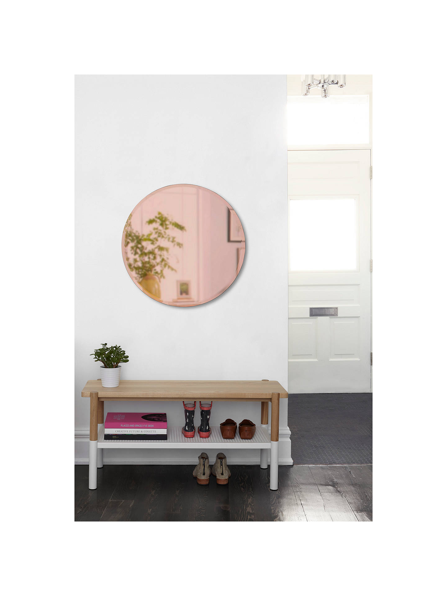 BuyUmbra Round Bevelled Mirror, Dia.85cm, Rose Gold Online at johnlewis.com