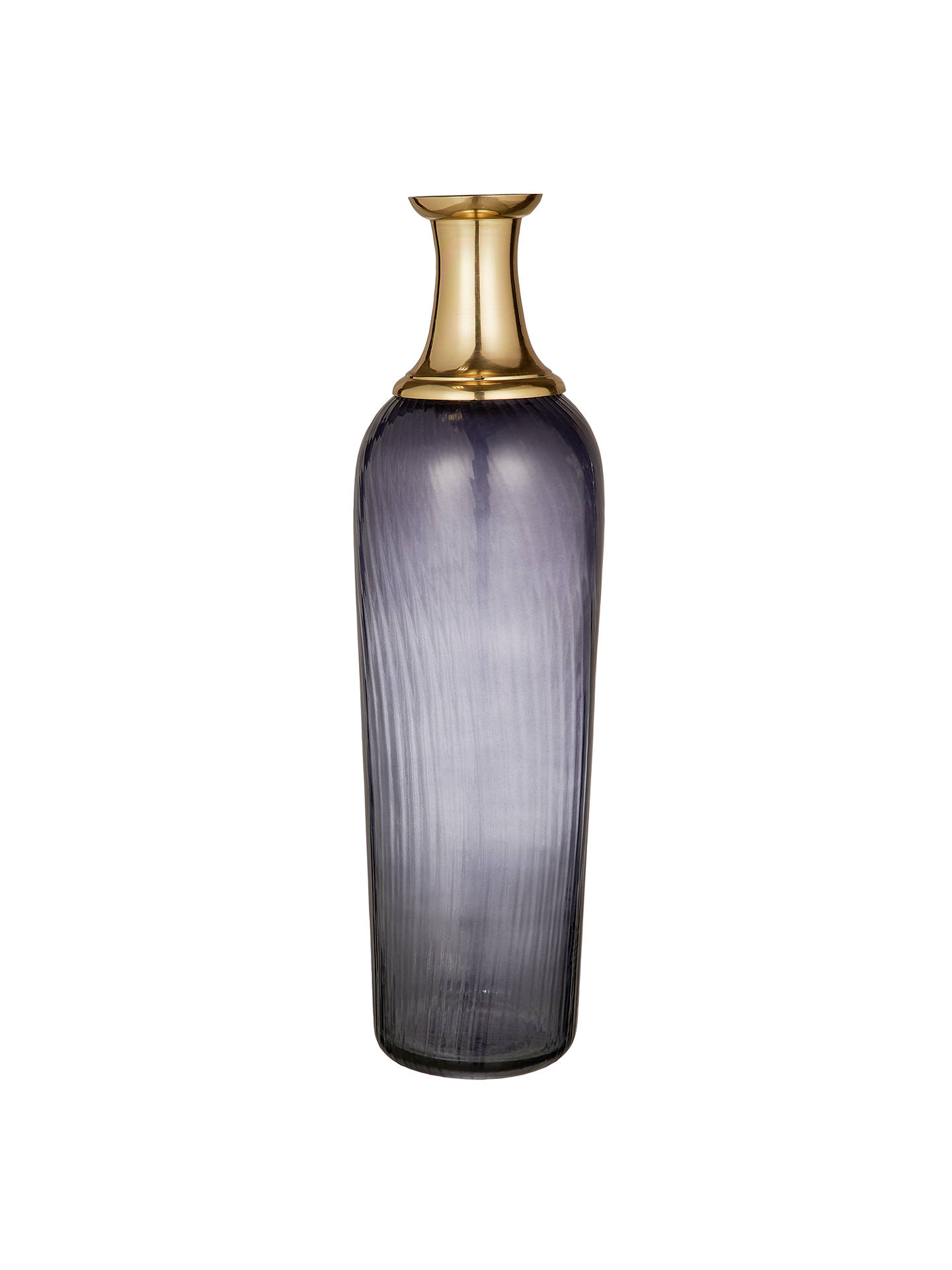 BuyJohn Lewis & Partners Glass Vase, Blue/Gold, H38cm Online at johnlewis.com