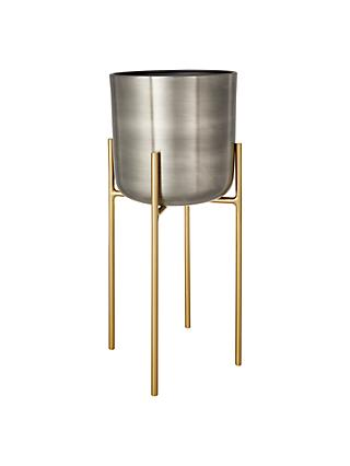 Design Project by John Lewis No.160 Indoor Planter, Metallic, Medium