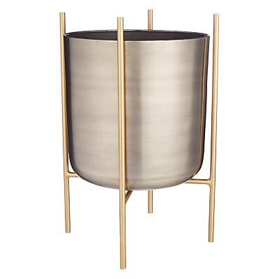 Design Project by John Lewis No.160 Indoor Planter, Metallic, Large