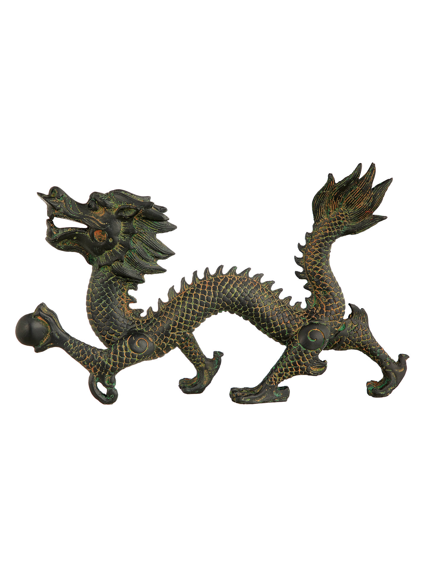 BuyJohn Lewis & Partners Dragon Sculpture, Antique Black, L26cm Online at johnlewis.com