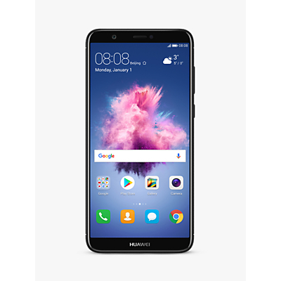 """Image of Huawei P Smart Smartphone, Android, 5.65"""", 4G LTE, SIM Free, 32GB, Black"""