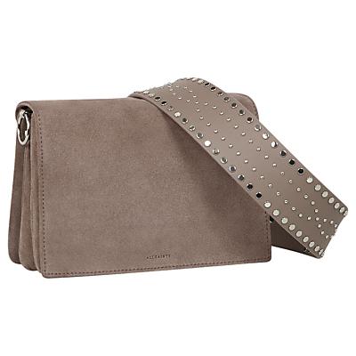 AllSaints Billie Mini Cross Body Bag, Almond Brown