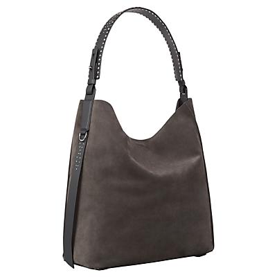 AllSaints Billie North South Tote Bag, Slate Grey