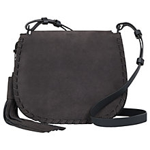 Buy AllSaints Mori Cross Body Bag, Navy Black Online at johnlewis.com
