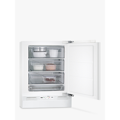 AEG ABB6821VAF Built-Under Freezer, A+ Energy Rating, 60cm Wide, White