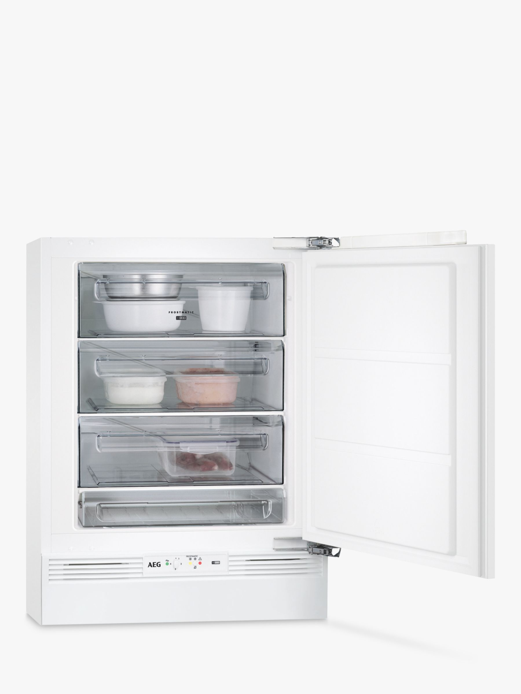 AEG AEG ABB6821VAF Built-Under Freezer, A+ Energy Rating, 60cm Wide, White