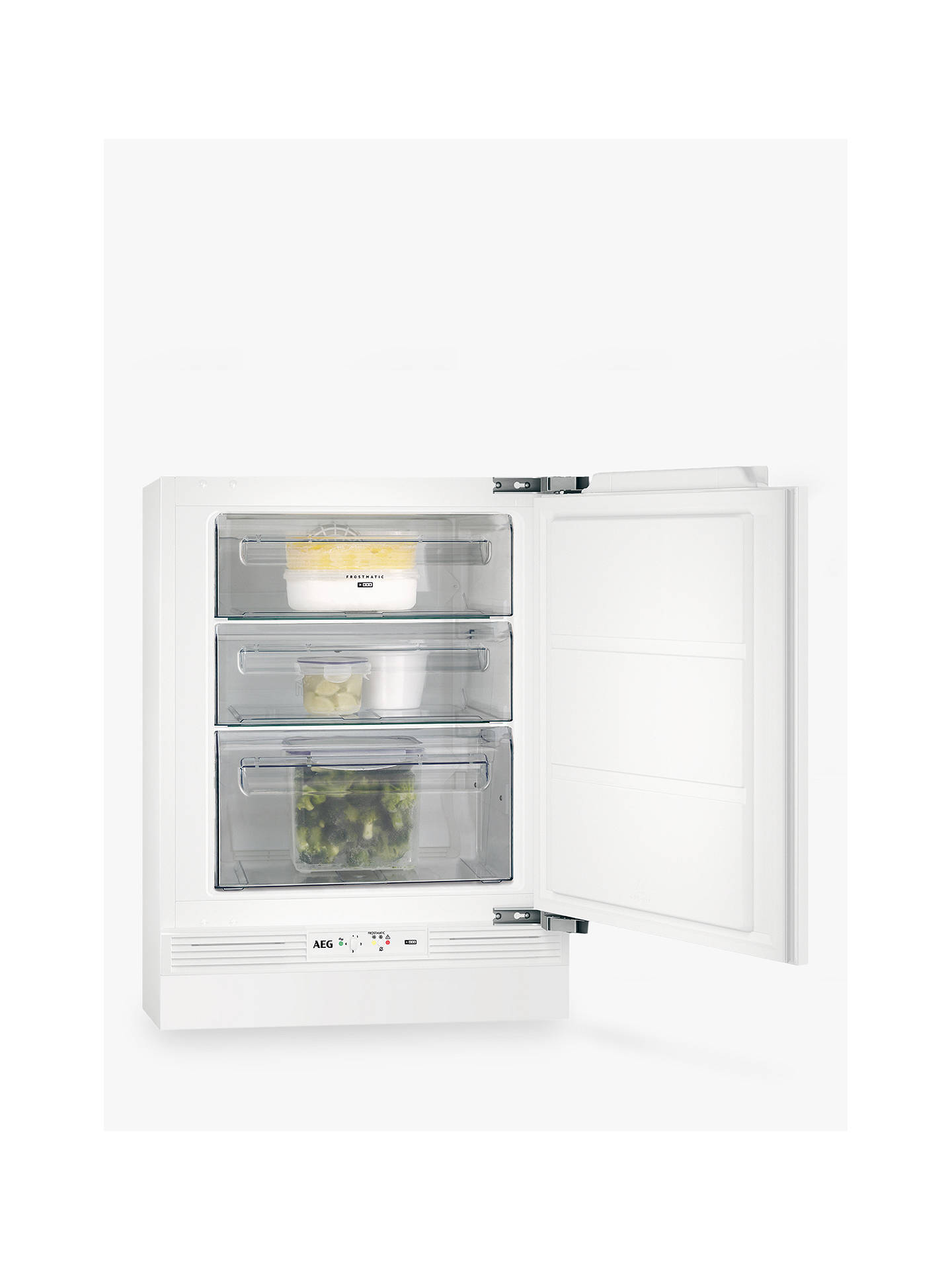 BuyAEG ABE6821VNF Undercounter Freezer, A+ Energy Rating, 60cm Wide, White Online at johnlewis.com