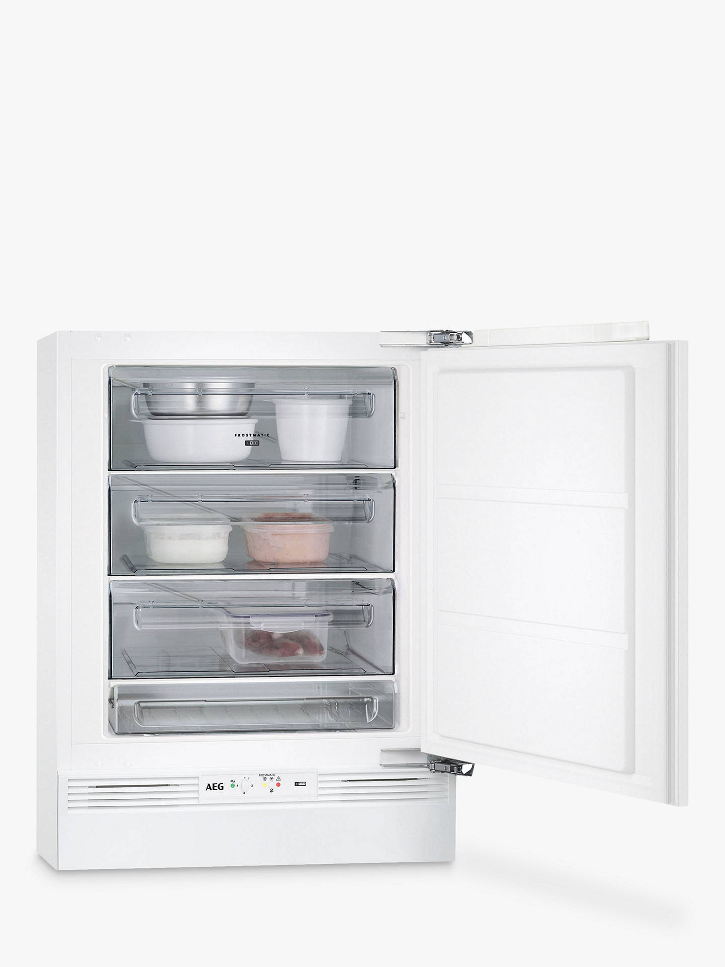 BuyAEG ABE6822VAF Built-Under Freezer, A++ Energy Rating, 60cm Wide, White Online at johnlewis.com